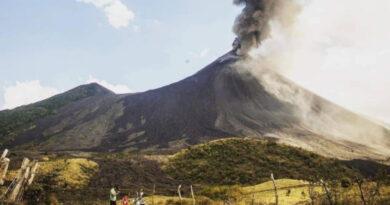Actividad del volcán de Pacaya en Guatemala