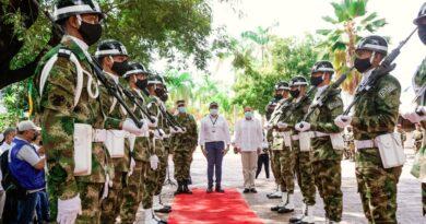 Autoridades rindieron homenaje a veteranos de la Fuerza Pública en Casanare